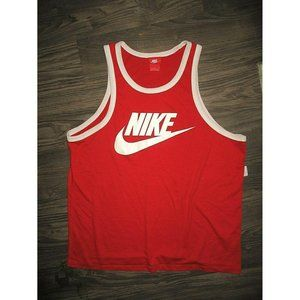 Nike Spell Out Swoosh LARGE Tank Top Red